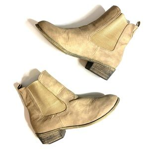 Tan Faux Leather Ankle booties size 8